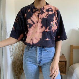 Custom Carhartt Bleached Tie Dye T-Shirt